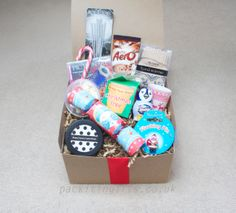 Teen Christmas - Christmas gift box, perfect for your teenage son, daughter, friend, neice, nephew, filled with games and lovely winter warmers - pack it in gift box, filled boxed hampers, an unusual xmas present idea. www.packitingifts.co.uk