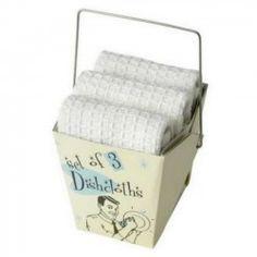 Set de trois lavettes rétro à moins de 6€.