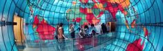 """Mapparium: Visit the """"middle of the world"""" inside a giant, stained glass globe. Crazy stuff. This world-famous, three-story, stained-glass globe is one of the key attractions at the Mary Baker Eddy Library"""
