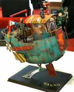 Ian Mcque: Waldo Sword & Lance Model Show 2015  A surprise highlight in the show competition........