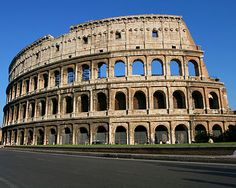 The Roman Colosseum was built during the days of the great Roman Empire.  It embodies both the grandeur and cruelty of the time.  Thousands of humans and animals met their end as part of the entertainment here.