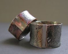 Faux Shibuichi Wedding Rings