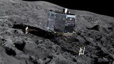 La sonda 'Rosetta', en una imagen facilitada por la Agencia Espacial Europea. http://www.elperiodico.com/es/noticias/sociedad/mision-sonda-rosetta-agencia-espacial-europea-3025929