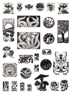 Recommended Clipart and Art Reference Books - Art Nouveau Typographic Ornaments