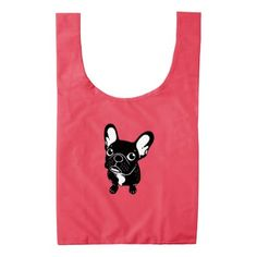 Cute brindle Frenchie is a dreamer Reusable Bag - dog puppy dogs doggy pup hound love pet best friend