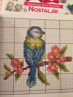 Discover thousands of images about Vintage cross stitch chart bird Cross Stitch Beginner, Tiny Cross Stitch, Free Cross Stitch Charts, Cross Stitch Bookmarks, Cross Stitch Heart, Cross Stitch Cards, Cross Stitch Borders, Cross Stitch Alphabet, Cross Stitch Animals