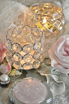 pretty lights...PINK and CRYSTAL
