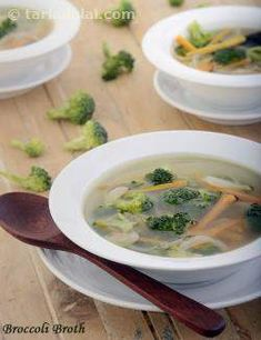 Broccoli Broth ( Healthy Soups and Salads Recipe), Broccoli Soup Lunch Recipes, Soup Recipes, Salad Recipes, Diet Recipes, Breakfast Recipes, Healthy Recipes, Recipies, Healthy Snacks, Healthy Soups