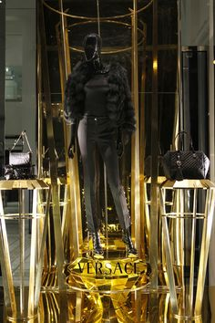 WindowsWear   Versace, New York, January 2013 Retail Windows, Store Windows, Calvin Klein Store, Store Window Displays, Display Windows, Fashion Mannequin, Behind The Glass, Christmas Window Display, Versace Fashion