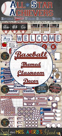 This baseball themed classroom decor bundle is perfect for teachers looking for classroom management ideas as they gear up to head back to school.  Click here and discover a WINNING resource full of editable classroom printables guaranteed to keep you organized throughout the school year.