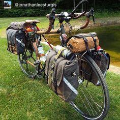 "1,415 Likes, 20 Comments - Inspirational bike loads (@bikepacks) on Instagram: ""Some good looking bags. Repost @jonathanleesturgis ・・・ ""#anhaicabagworks"" ・・・ #bikepacks…"""