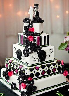 #mexican #wedding #cake #design #love #beautiful #sweet #cool #delicious #rock #music #skulls