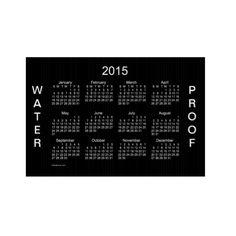2015 Waterproof Calendar Lawn Sign