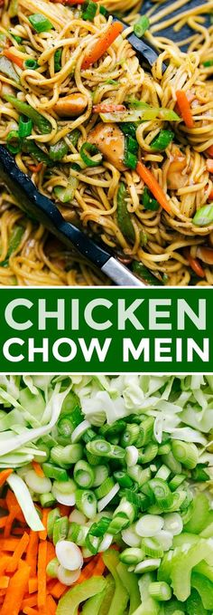 Chicken Chow Mein Chicken Chow Mein Easy chicken chow mein with tender chicken bites, plenty of veggies, and an addictive savory sauce coating it all. Today I'm sharing all my tips and tricks for how to make chicken chow mein BETTER than takeout! Chicken Chow Mein Recipe Easy, Easy Chicken Recipes, Asian Recipes, Thai Chow Mein Recipe, Chicken Chowmein Recipe, Healthy Chow Mein Recipe, Asian Foods, Recipe Chicken, Garlic Chicken