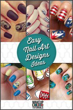 Easy Nail Art Designs - Ideas | Cool & Unique Manicures By Makeup Tutorials http://makeuptutorials.com/easy-nail-art-designs-ideas/