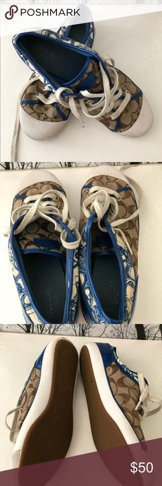 Sneakers Coach Zorra Signature Sneakers in Gently Used Condition. These sneakers have been gently used.  Size:9.5 Coach Shoes Sneakers