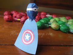 Captain America Lollipop Tutorial Moms Saving Money, LLC #Avengers Theme Party Ideas