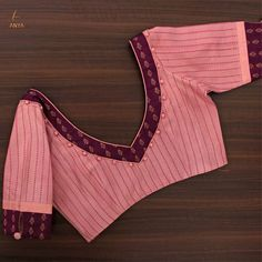 Sombre and sophisticated this blouse is customized with cloth balls and kanchipuram applique. 04 December 2019 Sombre and sophisticated this blouse is customized with cloth balls and kanchipuram applique. Brocade Blouse Designs, Cotton Saree Blouse Designs, Patch Work Blouse Designs, Simple Blouse Designs, Stylish Blouse Design, Designer Blouse Patterns, Blouse Designs Catalogue, Blouse Neck, Sari Blouse