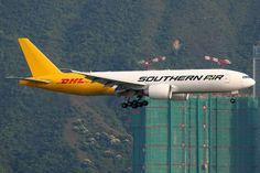 Southern Air, Boeing 777-200LRF, N714SA, Hong Kong International