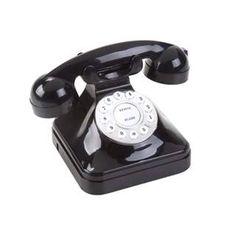 Telefone Modelo Antigo Retrô Preto