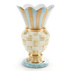 MacKenzie-Childs - Parchment Check Great Vase