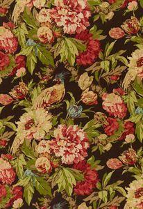 Ashbourne Peony Chestnut 173830 by Schumacher Fabric - Linen - Horizontal: 27 and Vertical: 32 54 - Fabric Carolina - Floral Upholstery Fabric, Drapery Fabric, Floral Fabric, Peony Colors, Luxury Flooring, Textiles, Fabric Wallpaper, Wallpaper Samples, Fabulous Fabrics