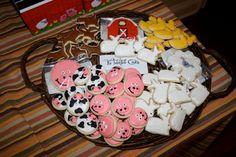 Barn Yard Farm Mini Animal cookies 3Dz by thetalentedcookie, $23.99