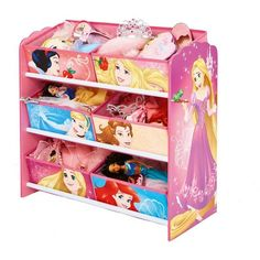 The Disney Princess Multi Storage Unit features all the classic Disney Princesses as they join your little one and help tidy and declutter their bedroom. Offering six spacious storage drawers, there's plenty of space for them to store their crown jewel Disney Princess Bedroom, Disney Bedrooms, Princess Room, Kids Bedroom Sets, Kids Room, Dark Wood Bedroom Furniture, Tufted Headboard Queen, Disney Furniture, Baby Doll Accessories