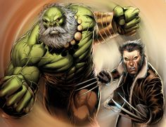 #Hulk #Fan #Art. (Hulk Wolverine) By: Bobhertley. (THE * 5 * STÅR * ÅWARD * OF: * AW YEAH, IT'S MAJOR ÅWESOMENESS!!!™) ÅÅÅ+
