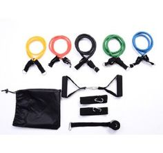 11Pc Resistance Bands Set Over 30 Different resistance levels Was £26.99 Now £9.99 63% Off