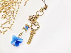 Capri Blue Crystal Butterfly Planner Charm, Phone Charm, Bag Charm, Zipper Pull or Filofax by PrettySang on Etsy