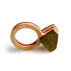 Diamant ring Recycled skateboards