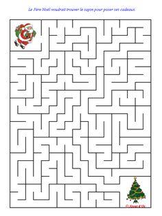 Christmas Maze, Christmas Words, Christmas Colors, Christmas Holidays, Christmas Worksheets, Christmas Activities For Kids, Christmas Printables, Google Christmas, Mazes For Kids