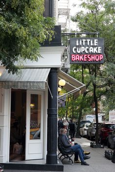 Little Cupcake Bakeshop - one near work, one near home. Like it was meant to be