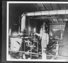Corliss engine in the original Santa Barbara Steam Plant. :: Southern California…