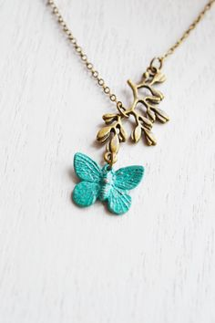 butterfly necklace,patina necklace,insect butterfly,bridesmaid necklace,woodland whimsical,choker, dainty necklace,leaf necklace,dainty butterfly,Spring,mothers gift,graduation gift idea