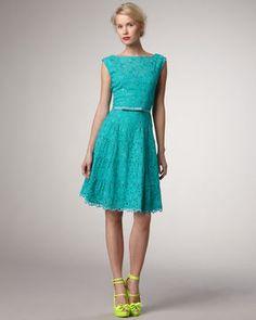 Nanette Lepore Balloon Sleeveless Lace Dress