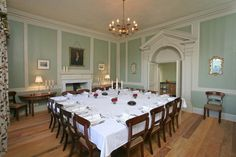 Dining Room at Berry House, wonderful big House Party House in north Devon