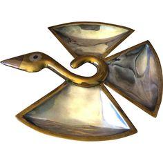 Los Castillo Mixed Metals Bird Tray, Large