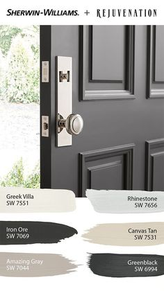 Paint Colors For Home, House Paint Exterior, Interior Paint Colors, Dark Paint Colors, Door Paint Colors, Interior Paint, Exterior Paint Colors For House, Colorful Interiors, Sherwin Williams Paint Colors