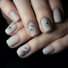 I love the nail polish color and cute flowers design.