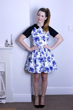 Asos. party dress. fashion. haul. collar. floral dress.