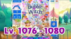 Bubble Witch Saga 2 Level 1076 - 1080 (1080p/60fps)