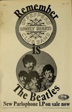 """The Beatles """"Sgt. Pepper's Lonely Hearts Club Band"""" (1967)"""