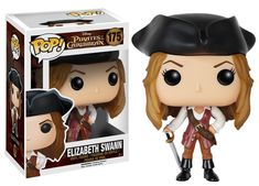 It's Elizabeth Swann as a Pop! This Pirates of the Caribbean Elizabeth Swann Pop! Vinyl Figure features the beautiful governor's daughter-turned-swashbuckler. Standing about 3 tall, this figure is packaged in a window display box. Ages 3 and up. Marvel Dc, Captain Marvel, Captain Jack, Elizabeth Swann, Disney Pop, Film Disney, Disney Nerd, Disney Magic, Pop Vinyl Figures