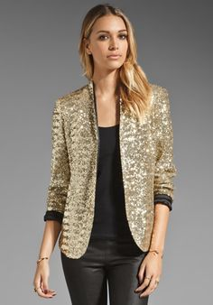 LA FEE VERTE Disco Blazer in Gold at Revolve Clothing - Free Shipping!