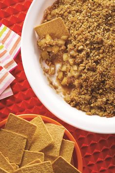Perfect for an after-school treat. This Apple Crisp Dipper served with WHEAT THINS Big Snacks will have you feeling like you're still on summer break :)