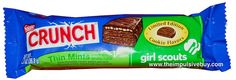 Nestlé Crunch Limited Edition Thin Mints Girl Scouts Candy Bar