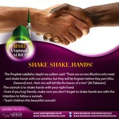 REVIVE A SUNNAH: SHAKING HANDS! - Understand Quran Academy