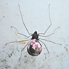 textile sculpted spiders | Spider soft sculpture made from vintage embroidery. by MisterFinch
